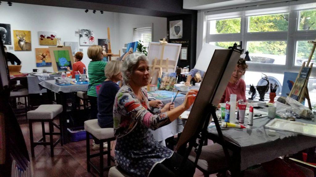 ateliers libres de peinture